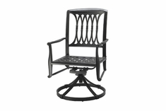 The Raven Collection Commercial Cast Aluminum Swivel Dining Chair