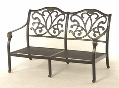 The Regency Collection Commercial Cast Aluminum Loveseat