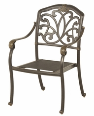 The Regency Collection Commercial Cast Aluminum Stationary Dining Chair