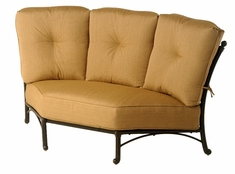 The Romana Collection Commercial Cast Aluminum Corner Club Chair