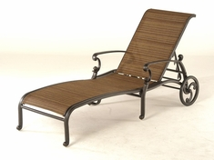 The Romana Collection Commercial Cast Aluminum Sling Chaise Lounge
