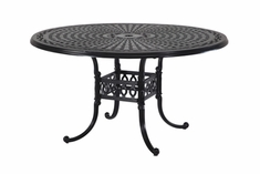 "The Rosette Collection Commercial Cast Aluminum 54"" Round Dining Table"