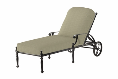 The Roza Collection Commercial Cast Aluminum Chaise Lounge