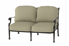 The Roza Collection Commercial Cast Aluminum Loveseat