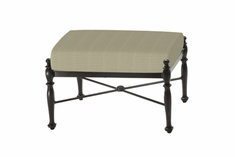 The Roza Collection Commercial Cast Aluminum Ottoman