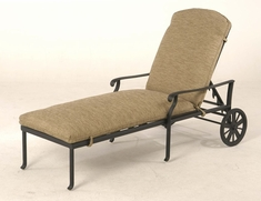 The Santiago Collection Commercial Cast Aluminum Chaise Lounge