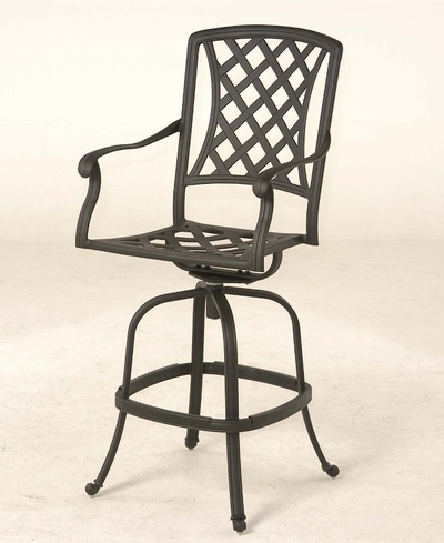 The Santiago Collection Commercial Cast Aluminum Swivel Bar Height Chair