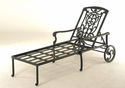 The Sari Collection Commercial Cast Aluminum Chaise Lounge
