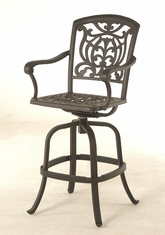 The Sari Collection Commercial Cast Aluminum Swivel Bar Height Chair