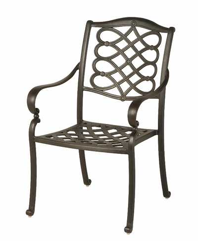 The Scala Collection Commercial Cast Aluminum Stationary Dining Chair