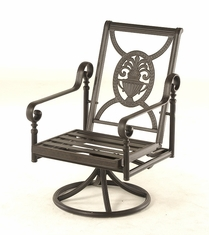 The Key West Collection Commercial Cast Aluminum Swivel Dining Chair