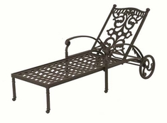 The Serena Collection Commercial Cast Aluminum Single Chaise Lounge
