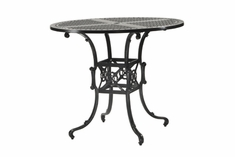 "The Shara Collection Commercial Cast Aluminum 48"" Round Pedestal Bar Height Table"