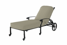 The Shara Collection Commercial Cast Aluminum Chaise Lounge