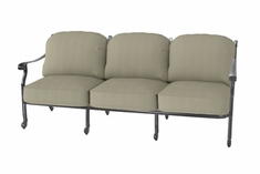The Shara Collection Commercial Cast Aluminum Sofa