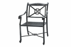 The Shara Collection Commercial Cast Aluminum Stationary Dining Chair