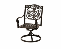 The Sierra Collection Commercial Cast Aluminum Swivel Dining Chair