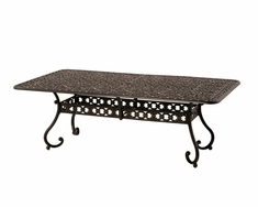 "The Sierra Collection Commercial Cast Aluminum 42"" x 84"" Rectangle Dining Table"