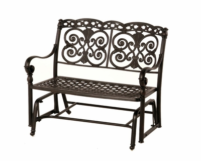 The Sierra Collection Commercial Cast Aluminum Double Glider