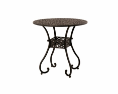 The Sierra Collection Commercial Cast Aluminum Round Pedestal Bar Table