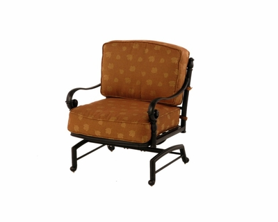 The Sierra Collection Commercial Cast Aluminum Spring Base Club Chair