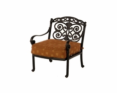 The Sierra Collection Commercial Cast Aluminum Stationary Club Chair