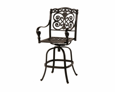 The Sierra Collection Commercial Cast Aluminum Swivel Bar Height Chair