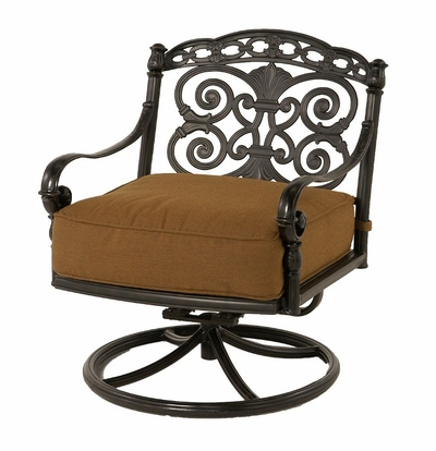The Sierra Collection Commercial Cast Aluminum Swivel Club Chair