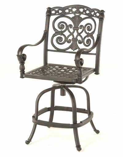 The Sierra Collection Commercial Cast Aluminum Swivel Counter Height Chair