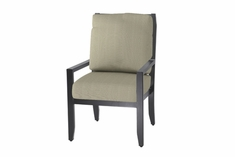 The Skyla Collection Commercial Cast Aluminum Stationary Dining Chair With High Back
