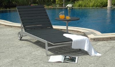 The Solo Collection Commercial Teak Chaise Lounge