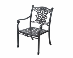 The Serena Collection Commercial Cast Aluminum Stationary Dining Chair