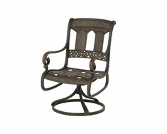 The Tuscana Collection Commercial Cast Aluminum Swivel Dining Chair