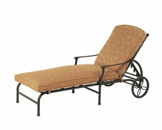 The St. Tropez Collection Commercial Cast Aluminum Chaise Lounge