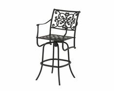 The St. Tropez Collection Commercial Cast Aluminum Swivel Bar Height Chair