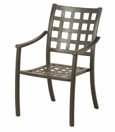 The Tucson Collection Commercial Cast Aluminum Stationary Dining Chair