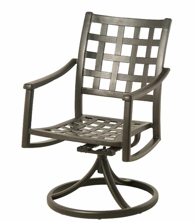 The Tucson Collection Commercial Cast Aluminum Swivel Dining Chair