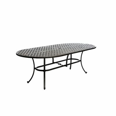 """The Tahoe Collection Commercial Cast Aluminum 42"""" x 84"""" Oval Dining Table"""