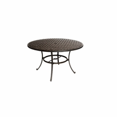 "The Tahoe Collection Commercial Cast Aluminum 48"" Round Dining Table"