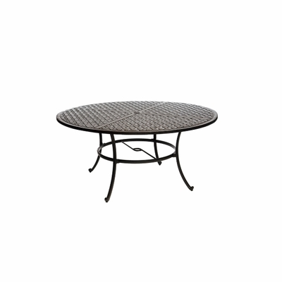 """The Tahoe Collection Commercial Cast Aluminum 60"""" Round Dining Table"""