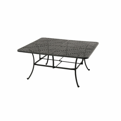 """The Tahoe Collection Commercial Cast Aluminum 64"""" Square Dining Table"""
