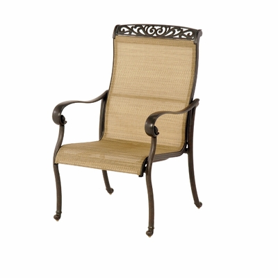The Talbot Collection Commercial Cast Aluminum Sling Stationary Dining Chair