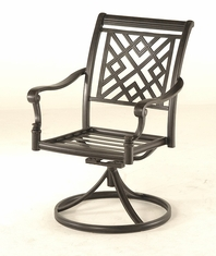 The Hollister Collection Commercial Cast Aluminum Swivel Dining Chair