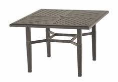 "The Tierra Collection Commercial Cast Aluminum 48"" Square Dining Table"