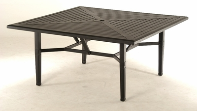 """The Tierra Collection Commercial Cast Aluminum 60"""" Square Dining Table"""
