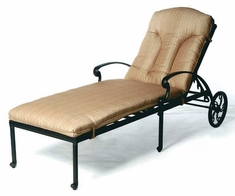 The Tori Collection Commercial Cast Aluminum Chaise Lounge