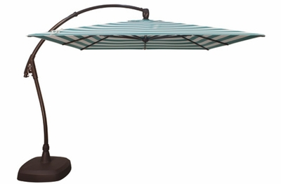 The Treasure Garden Collection 10' Square AG Series Cantilever Patio Umbrella