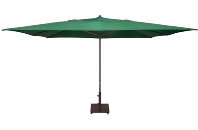 The Treasure Garden Collection 10' x 13' Easy Track Aluminum Rectangle Patio Umbrella