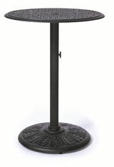 "The Tribeca Collection Commercial Cast Aluminum 42"" Round Pedestal Bar Height Table"