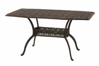 """The Tribeca Collection Commercial Cast Aluminum 42"""" x 72"""" Oblong Counter Height Table"""